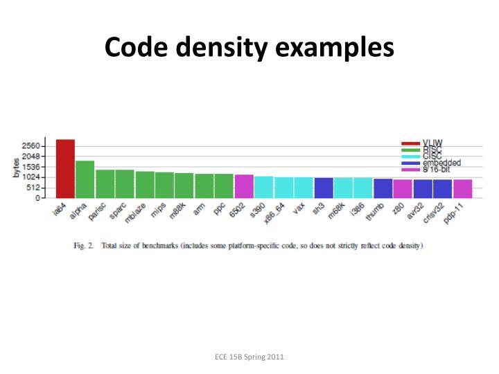 Code density examples