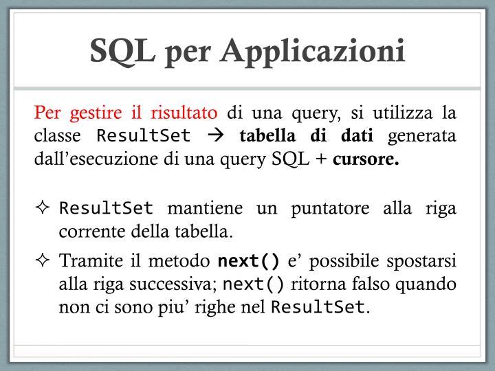 SQL per