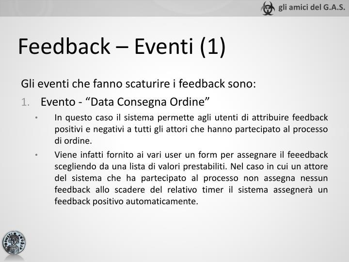 Feedback – Eventi (1)