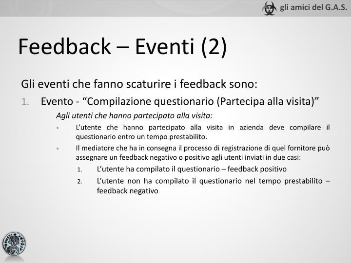 Feedback – Eventi (2)