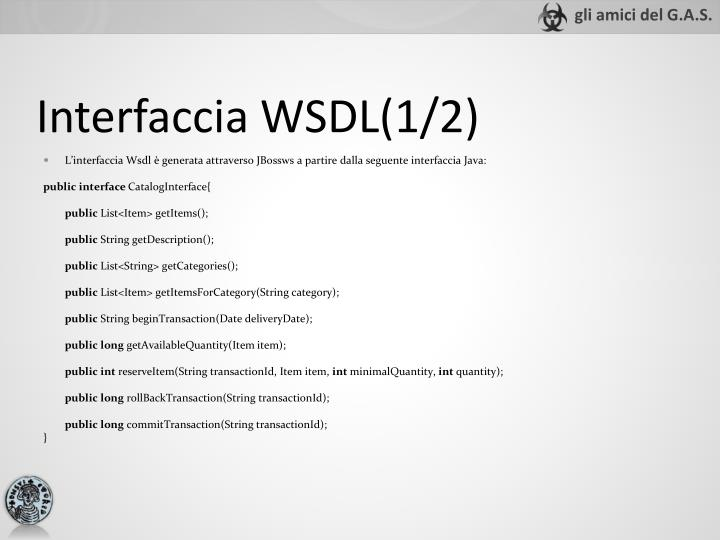 Interfaccia WSDL(1/2)