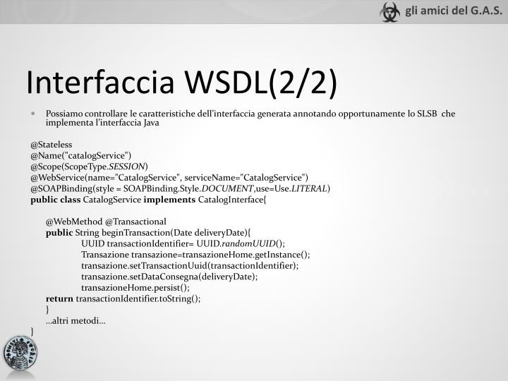 Interfaccia WSDL(2/2)
