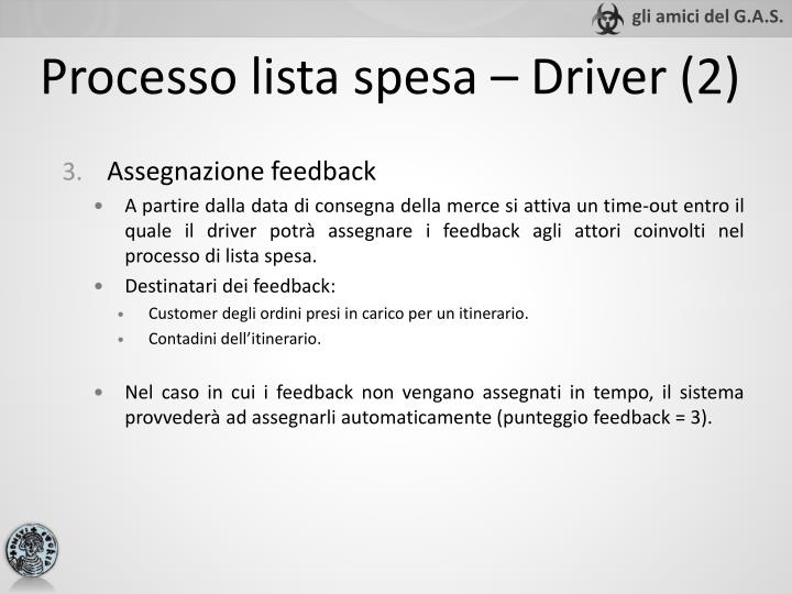 Processo lista spesa – Driver (2)
