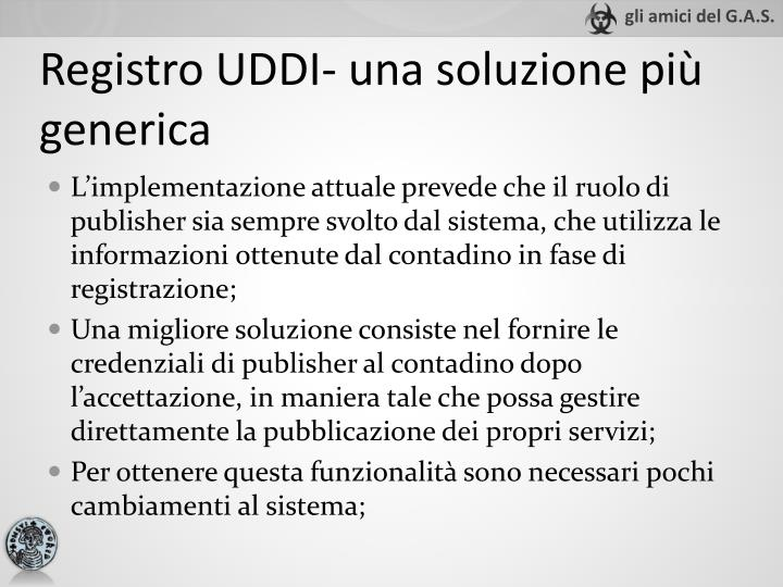 Registro UDDI- una soluzione più generica