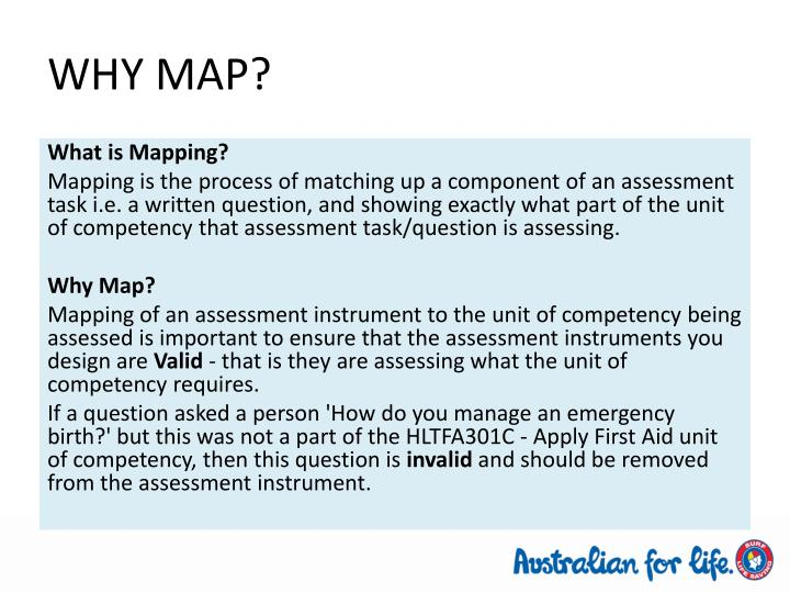 WHY MAP?
