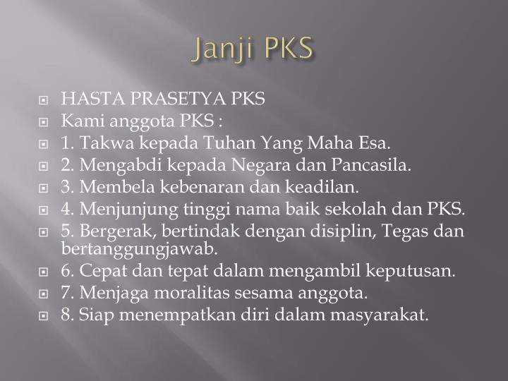 Janji PKS