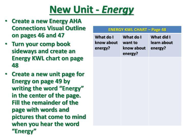 New Unit -