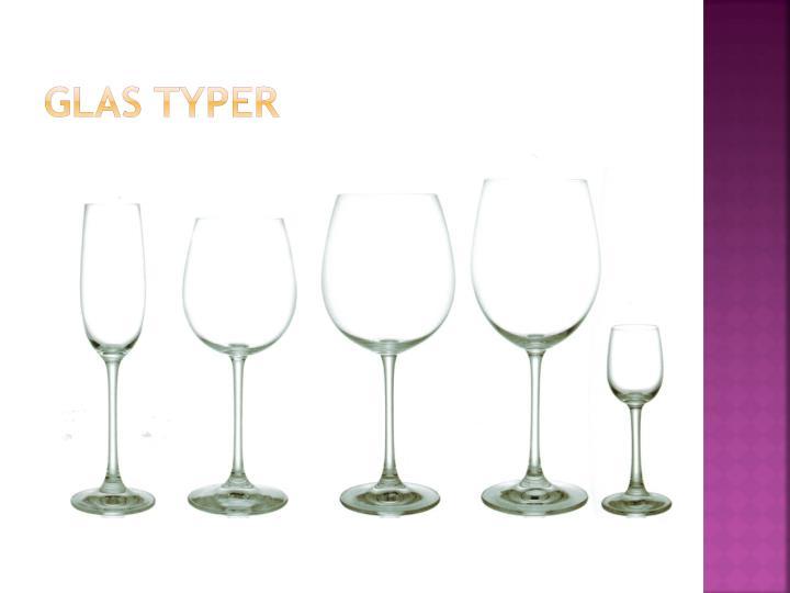 Glas typer