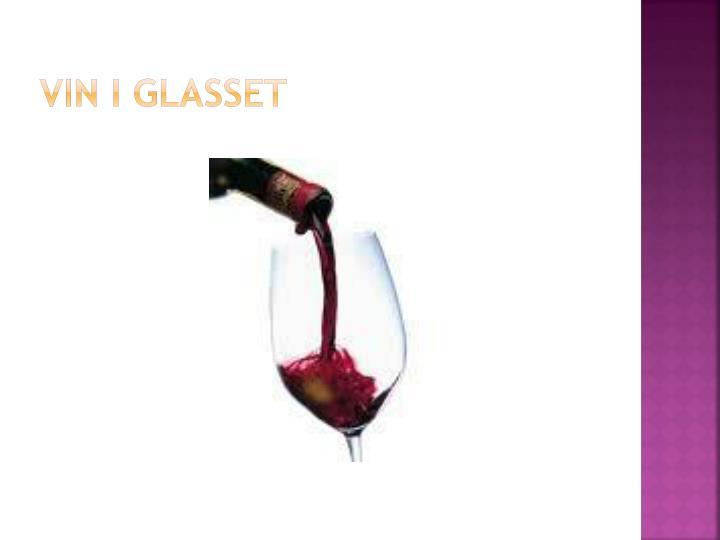 Vin i glasset