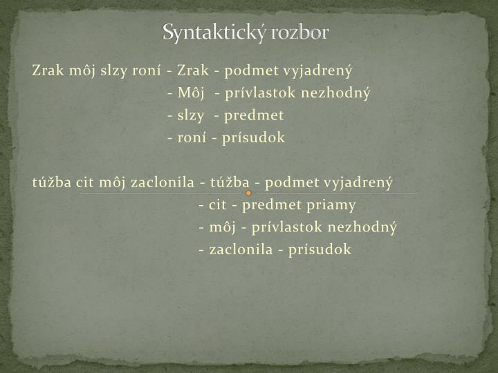 Syntaktický rozbor