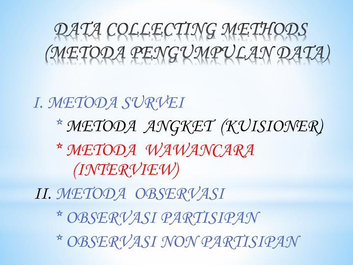 I. METODA SURVEI