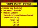 format kalimat hipotesis