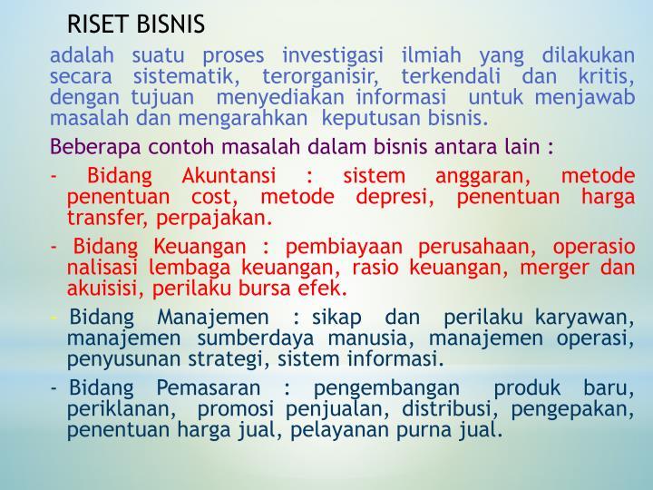 RISET BISNIS