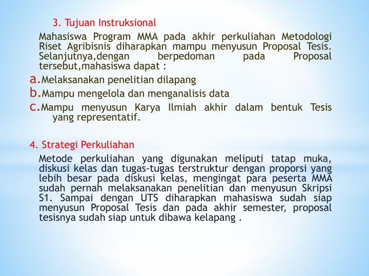 3. Tujuan Instruksional