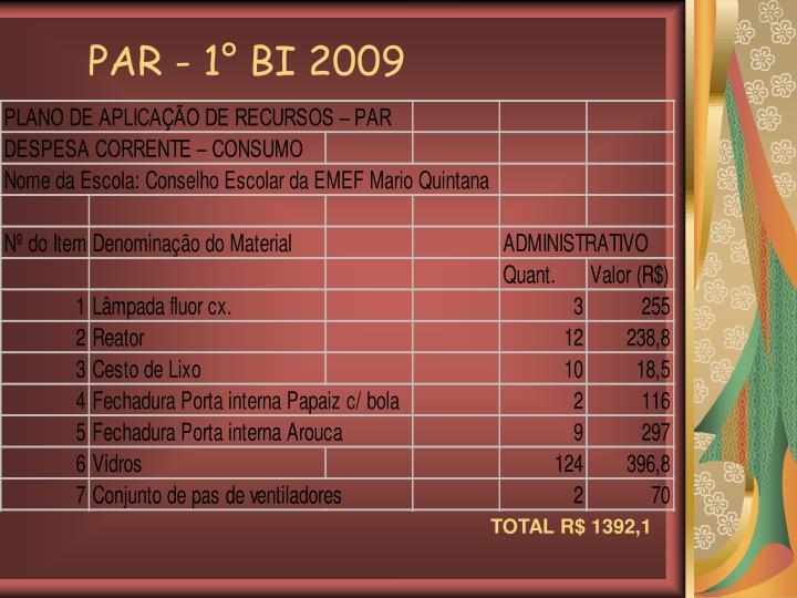 PAR - 1° BI 2009