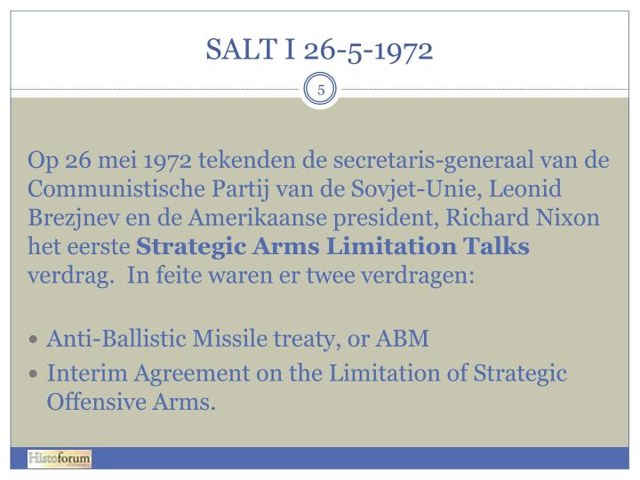 SALT I 26-5-1972