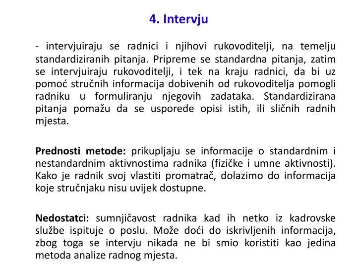 4. Intervju