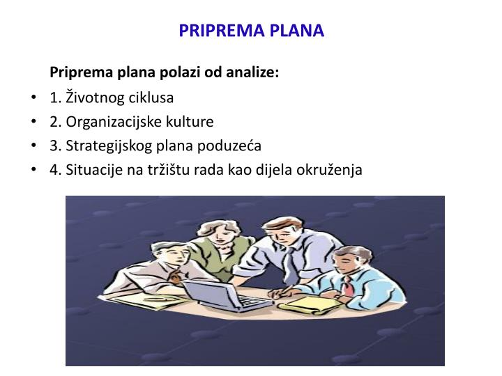 PRIPREMA PLANA