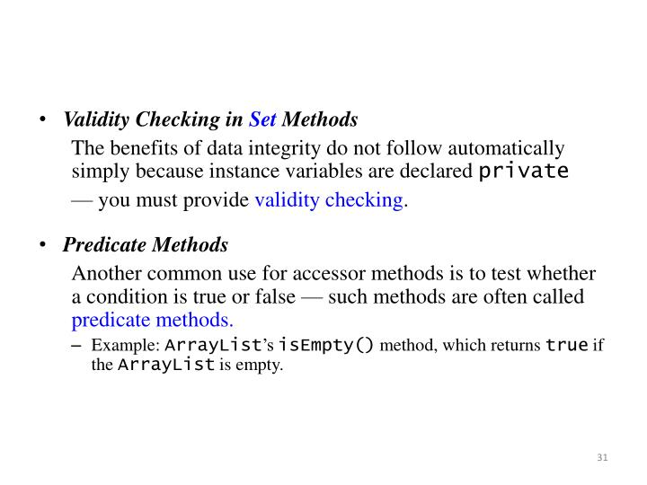 Validity Checking in