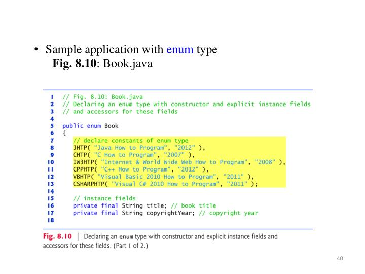 Sample application with