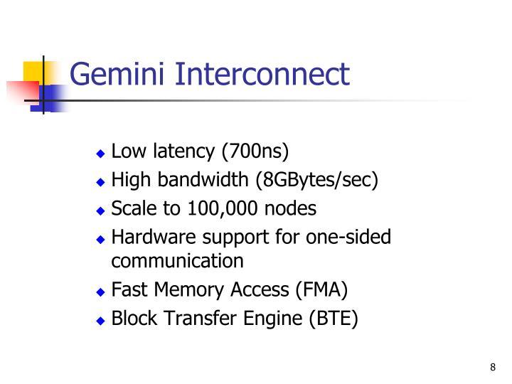 Gemini Interconnect