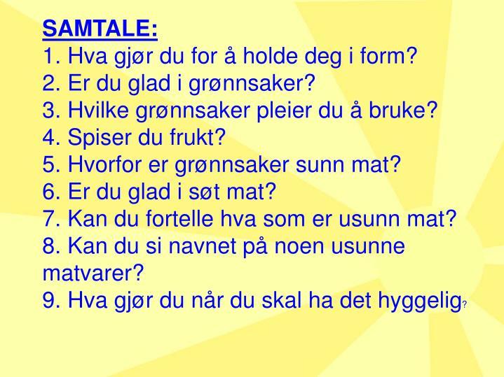SAMTALE: