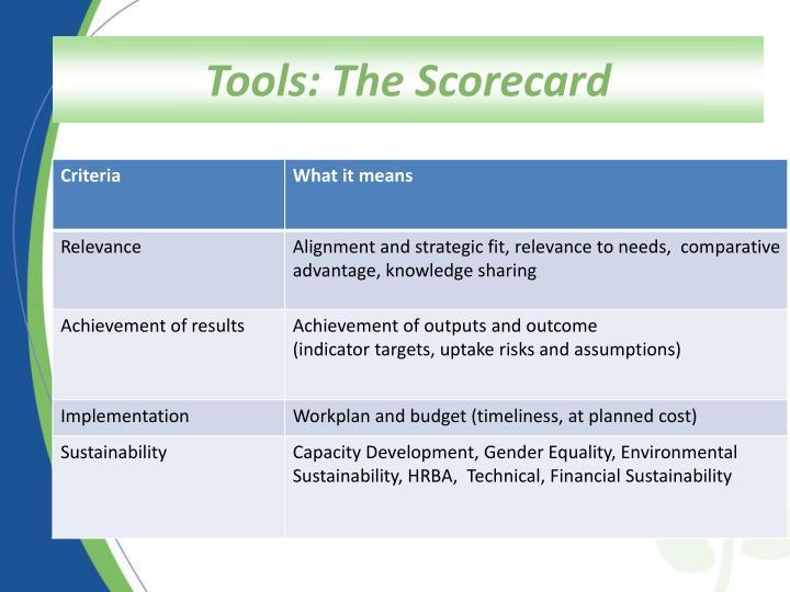 Scorecard Criteria-Breakdown