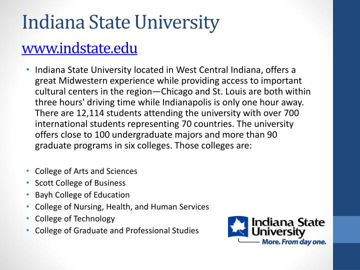Indiana state university www indstate edu