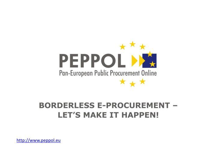 http://www.peppol.eu