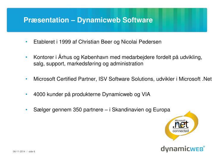 Præsentation – Dynamicweb Software