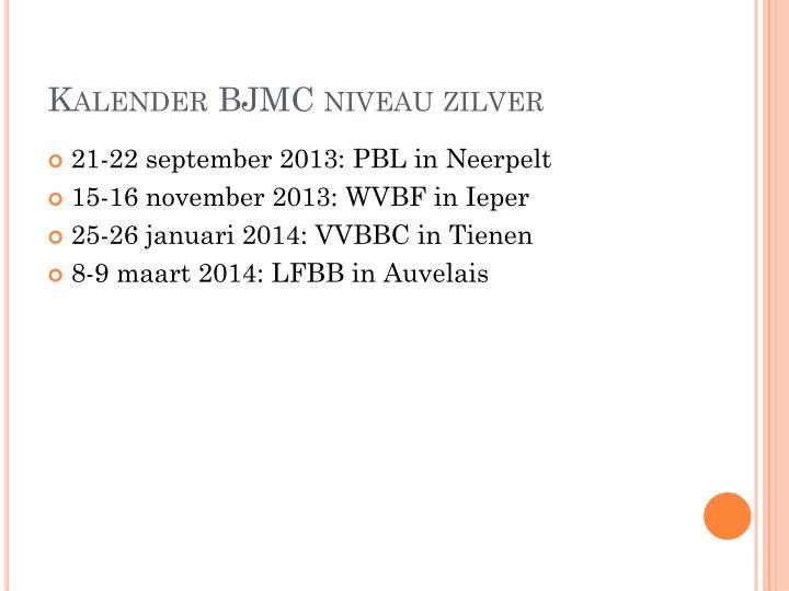 Kalender BJMC niveau zilver