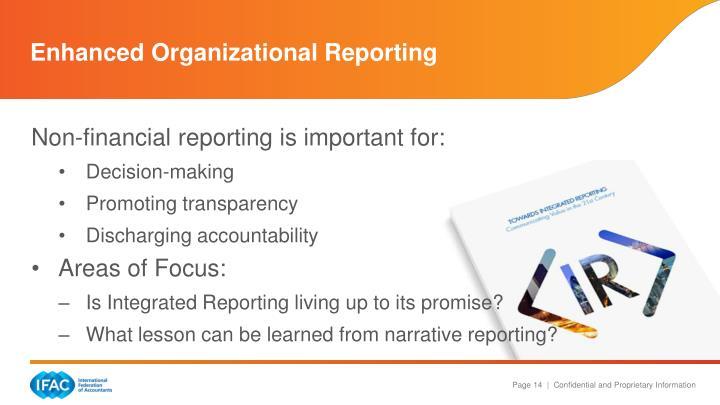 Enhanced Organizational Reporting