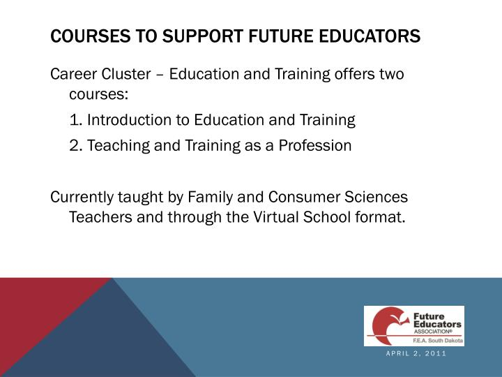 Courses to support Future educators