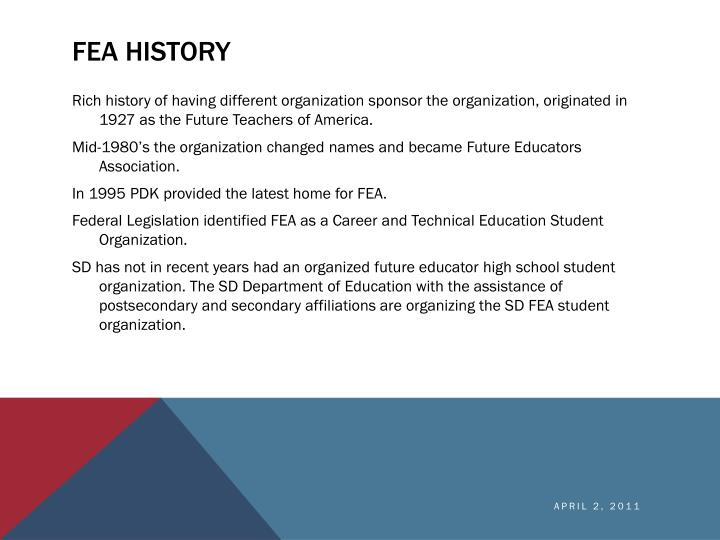 FEA History