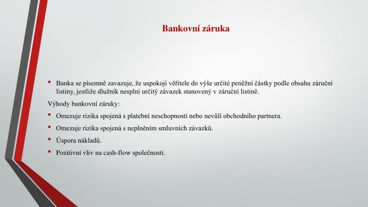 Bankovní záruka