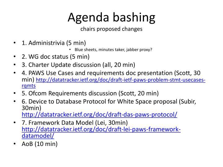 Agenda bashing