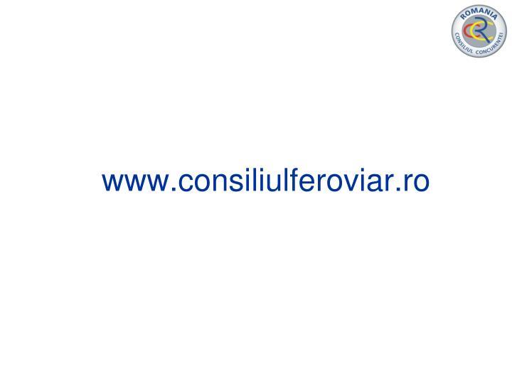 www.consiliulferoviar.ro