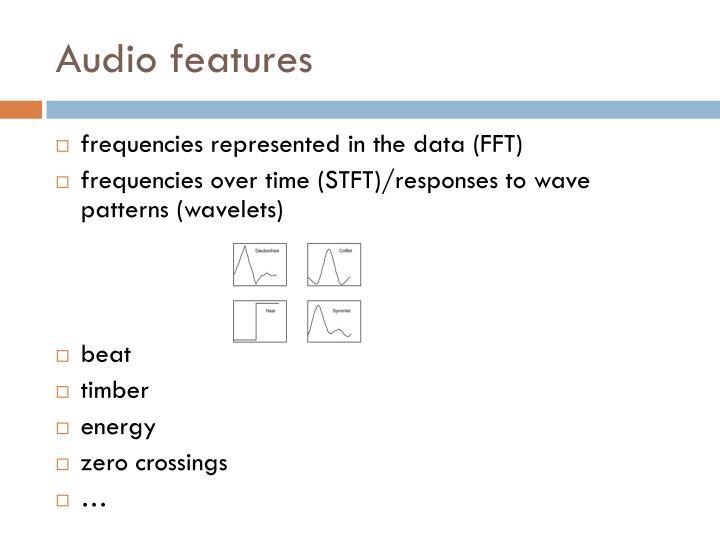 Audio features
