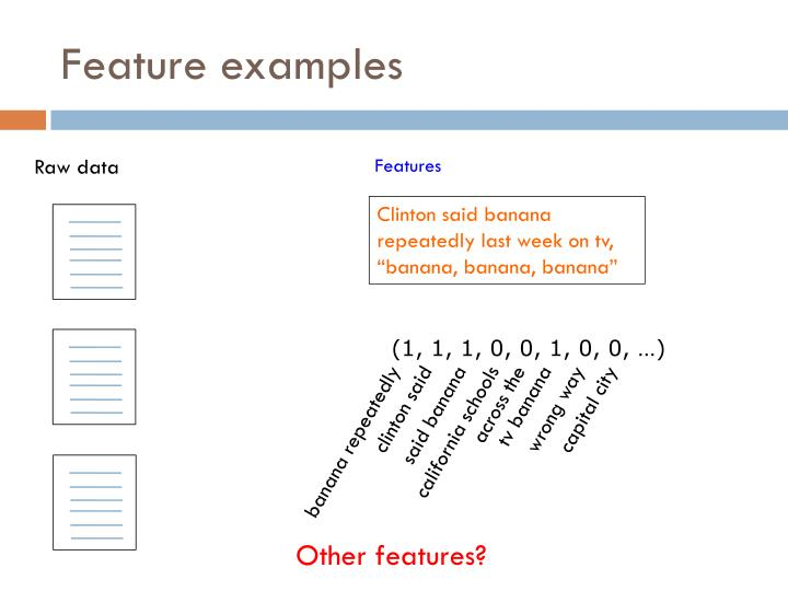 Feature examples