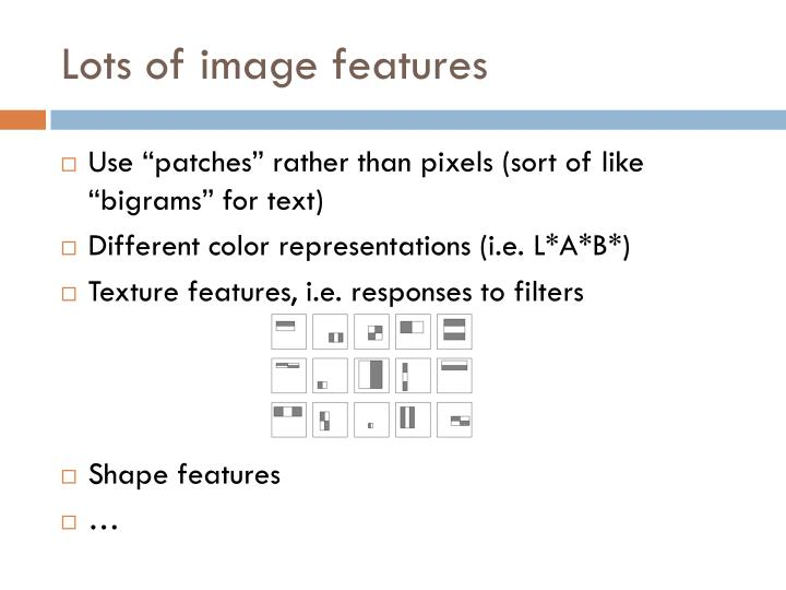 Lots of image features