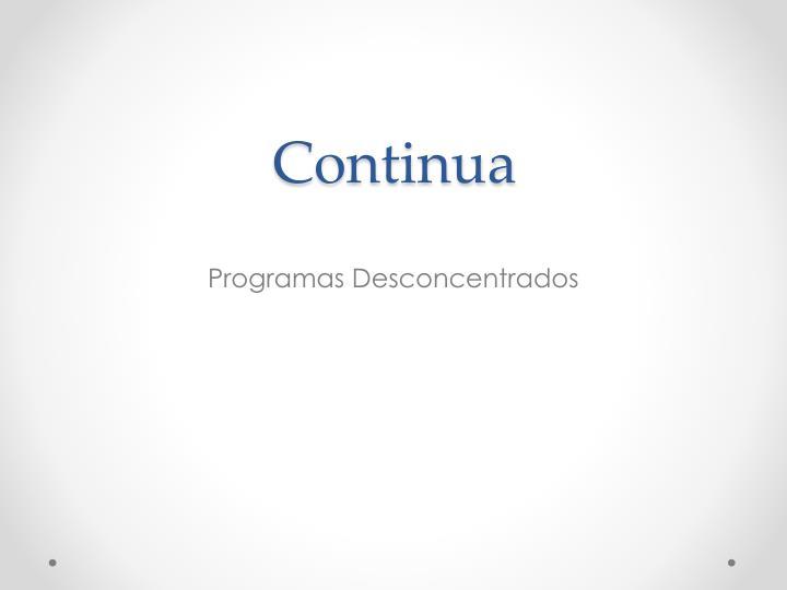 Continua