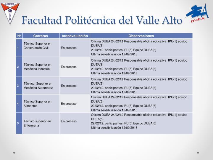 Facultad Politécnica del Valle Alto