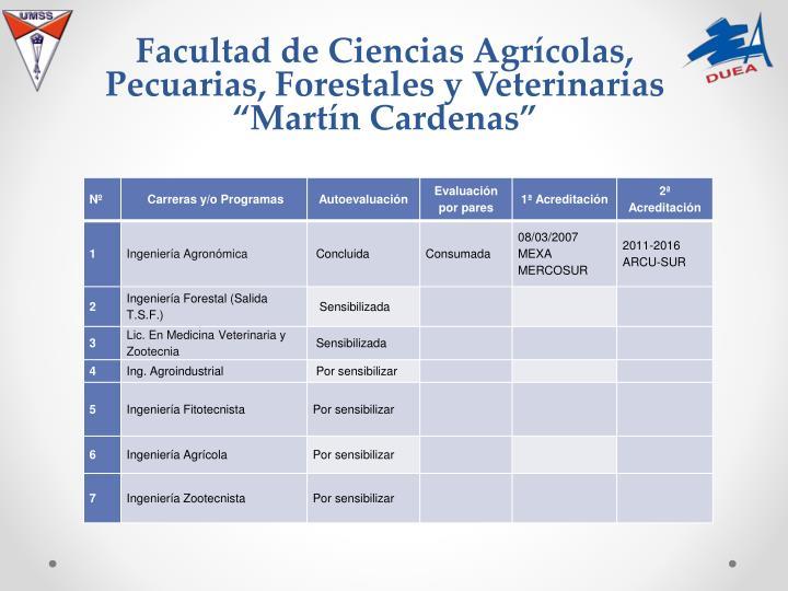 Facultad de Ciencias Agrícolas, Pecuarias, Forestales y Veterinarias