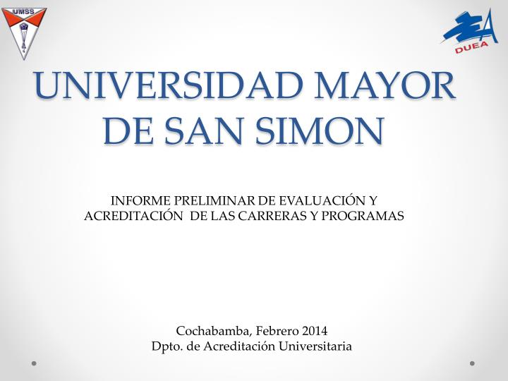 Universidad mayor de san simon