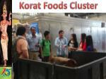 korat foods cluster