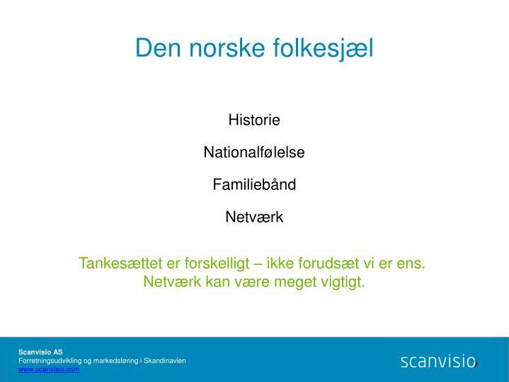 Den norske folkesjæl