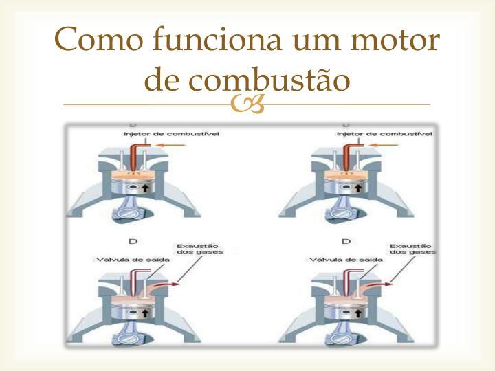 Como funciona um motor de combustão