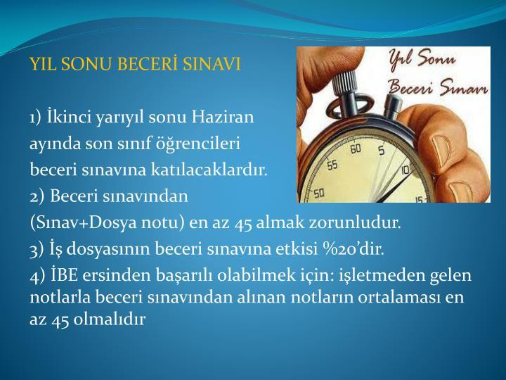 YIL SONU BECERİ SINAVI
