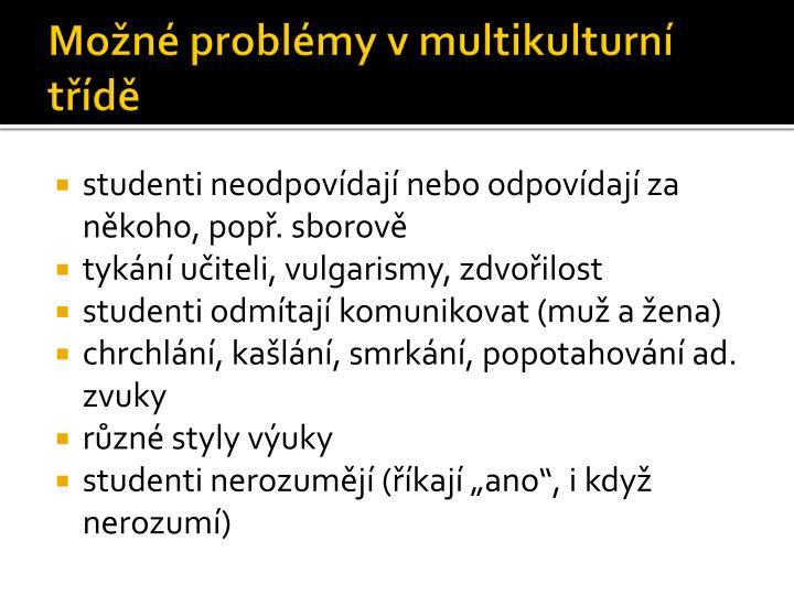 Možné problémy v multikulturní třídě