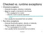 checked vs runtime exceptions